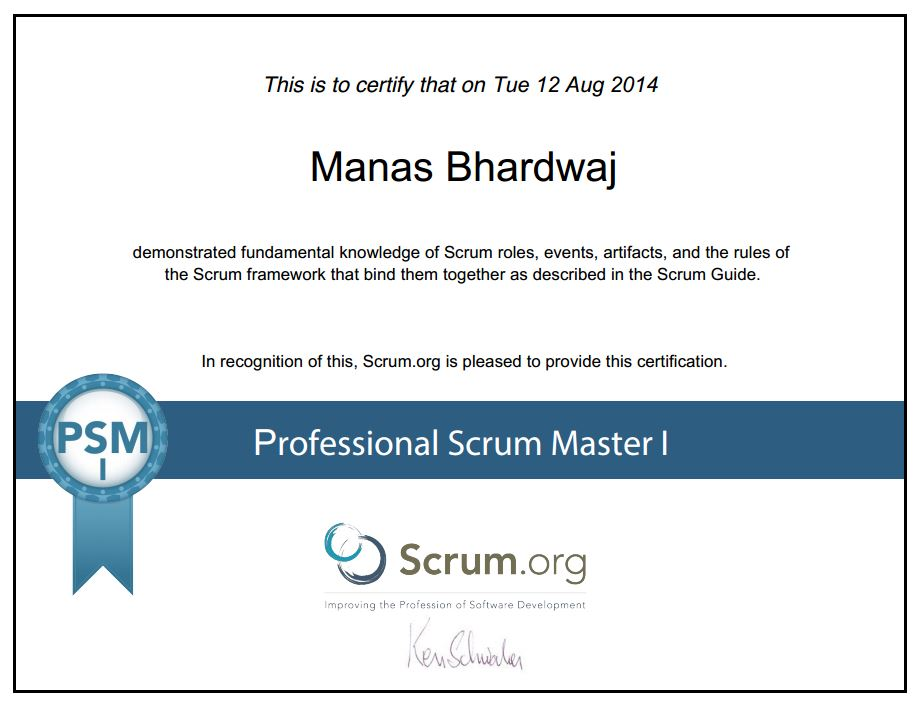 How to pass Professional Scrum Master (PSM I) Certification? (2/3)