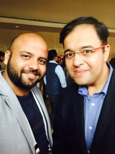 Selfie with Umang bedi, Adobe MD