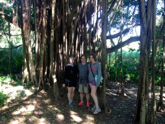 Mom, Katie and me under the banyon trees