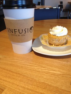 Mocha and a pumpkin cheesecake is a pretty good definition of happiness