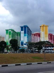 Pretty rainbow buildings in Bugis