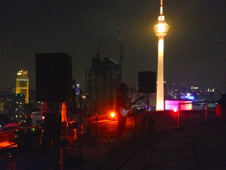 Live music on the roof, with KL Tower behind