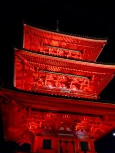 Kiyomizudera lit up