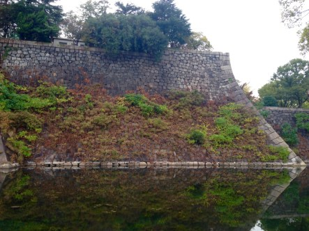 The castle wall and moat