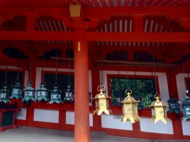 Some of the lanterns are polished, while others have been left to oxidize over time