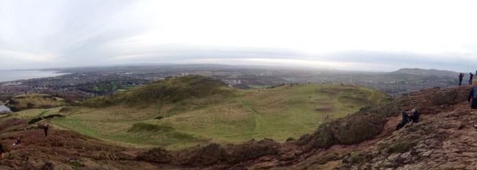 View from Hollyrood Park, the queen's backyard when she's in Edinburgh