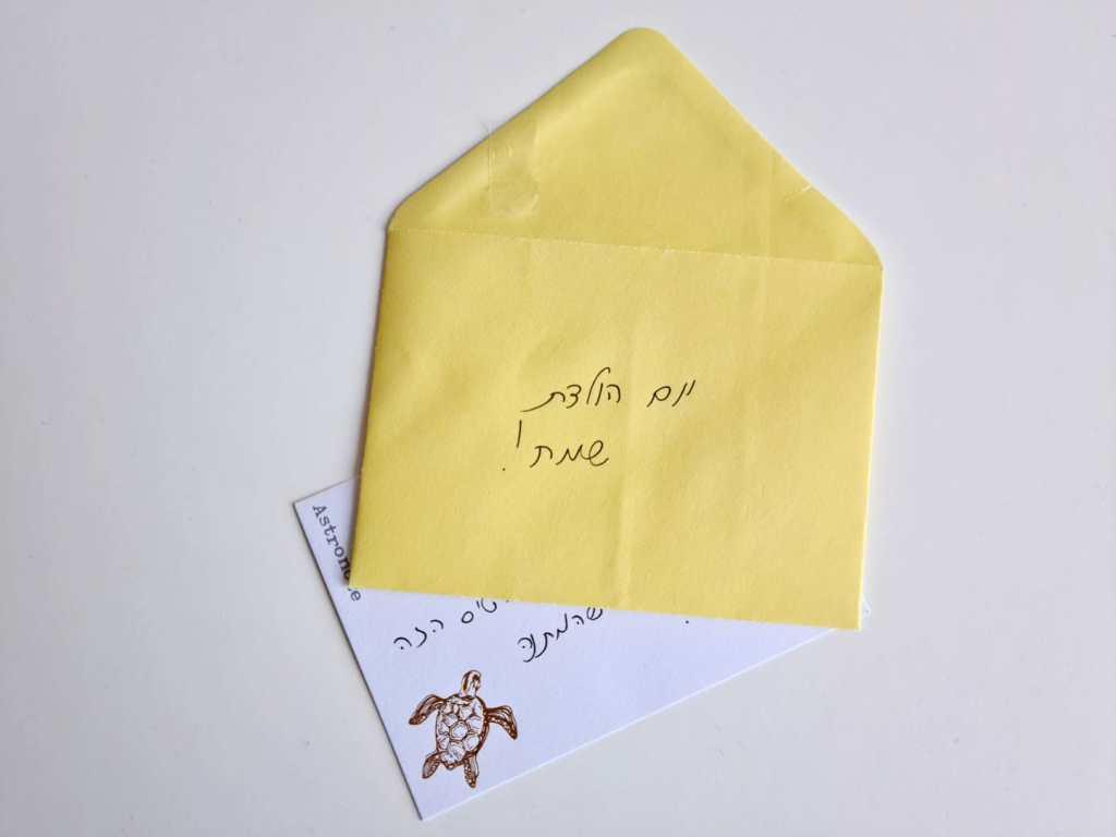 כרטיס ברכה יום הולדת שמח, היה באחת התחנות של חדר הבריחה שלי.