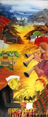 The Political, Bhutan India Friendship Mega Mural, Manav Gupta