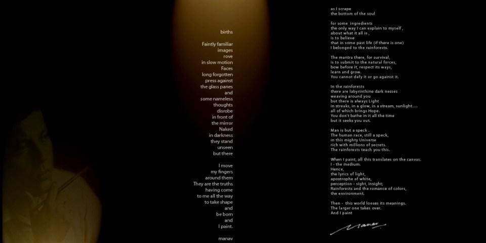Artist's Statement - Manav Gupta, Manav Gupta, Manav Gupta Website, Manav Gupta poems