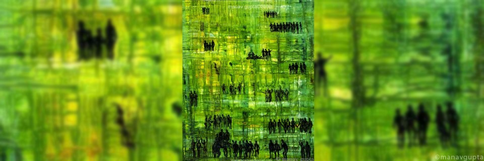 Umbilical Cords of Earth, Signature Series,by artist Manav Gupta