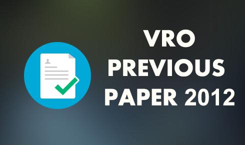 vro previous paper 2012