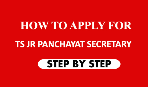 HOW TO APPLY FOR TS JUNIOR PANCHAYAT SECRETARY JOB