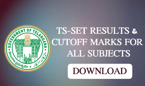 TS-SET RESULTS & CUTOFF MARKS FOR ALL SUBJECTS