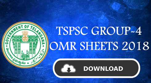 Tspsc Group-4 OMR sheets 2018 released @tspsc.gov.in
