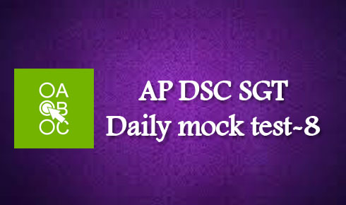 AP DSC SGT Daily mock test-8