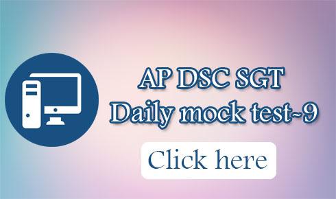 AP DSC SGT Daily mock test-9