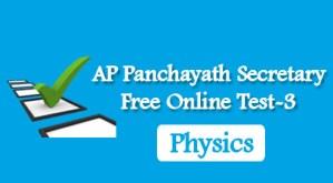 AP Panchayath Secretary Free Online Test-3