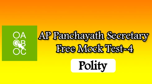 AP Panchayath Secretary Free Mock Test-4