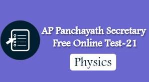 AP Panchayath Secretary Free Online Test-21