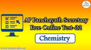 AP Panchayath Secretary Free Online Test-22