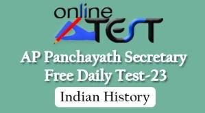 AP Panchayath Secretary Free Daily Test-23