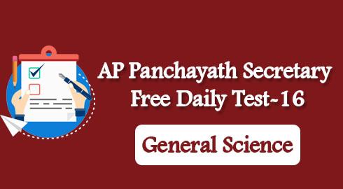 AP Panchayath Secretary Free Daily Test-16
