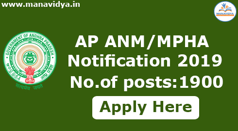 AP ANM/MPHA Notification 2019