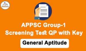 appsc group 1 screening test paper 2 question paper with key download
