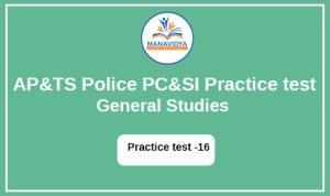 AP &TS POLICE Exam practice test -16
