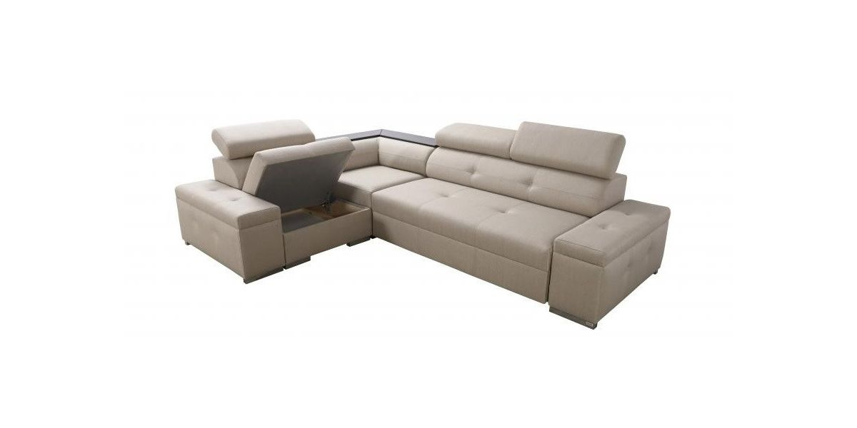 1 personers sofa med chaiselong red colour manaya parma mini comfort