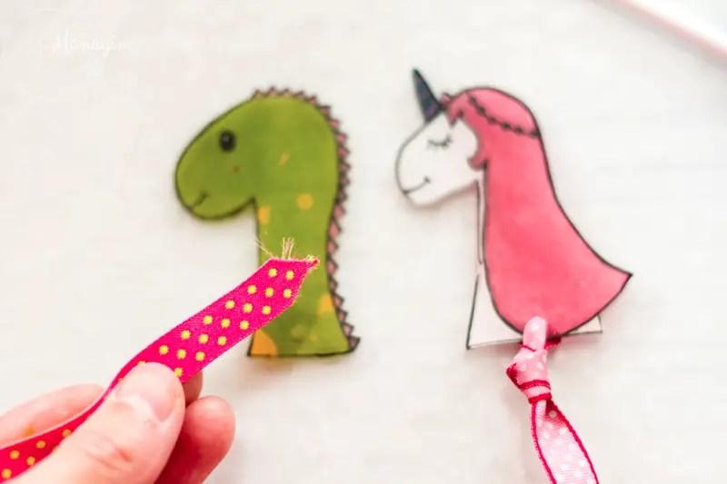 DIY marque-page licorne et dinosaure
