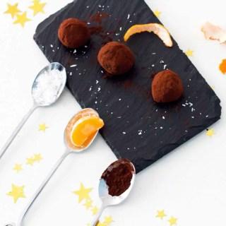Recettes de truffes au chocolat graphic