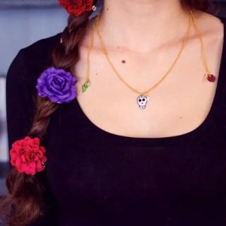 DIY collier Frida Kahlo pour le Projet DIY #17 : «à la manière de Frida Kahlo» graphic