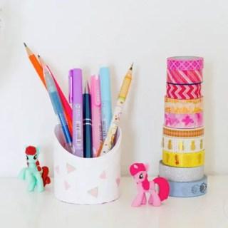 DIY récup' pour faire des pots à crayons ! graphic