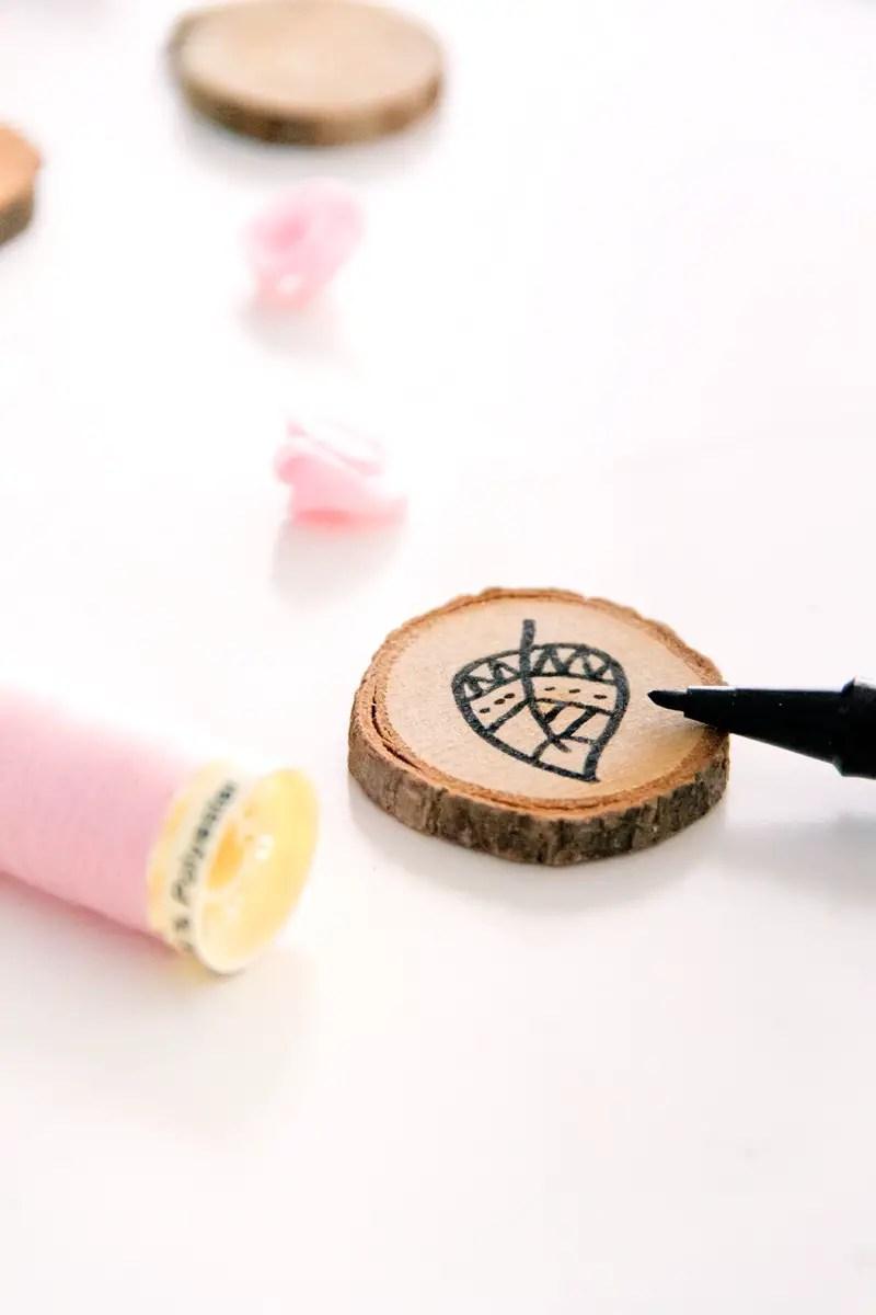 DIY avec des rondelles en bois
