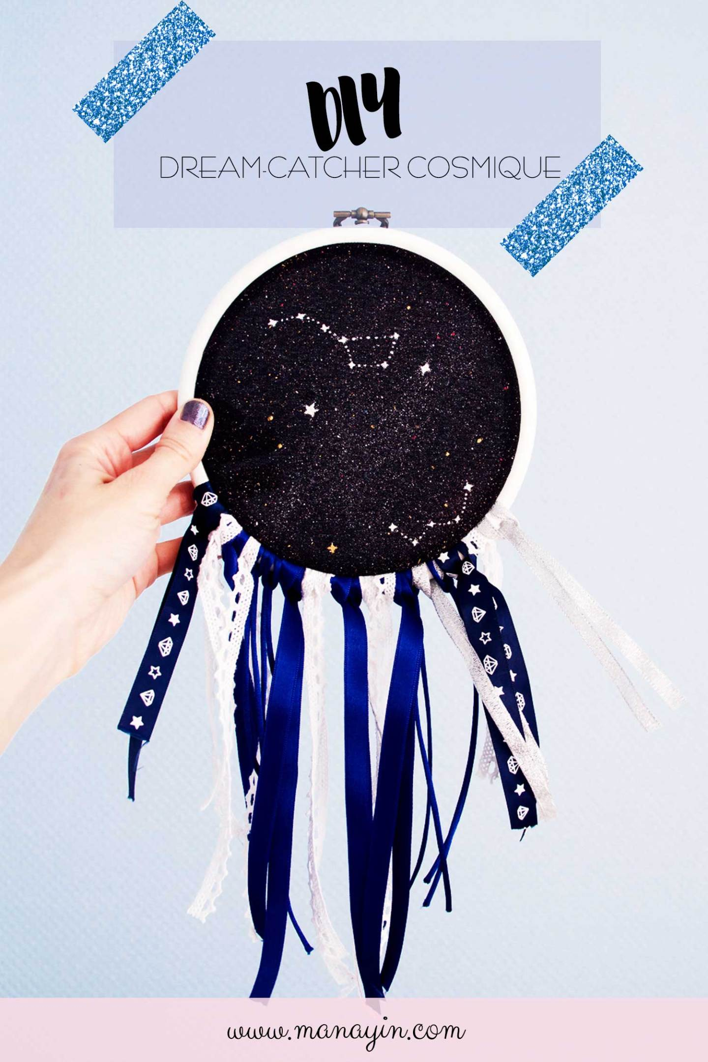 DIY dream-catcher cosmique