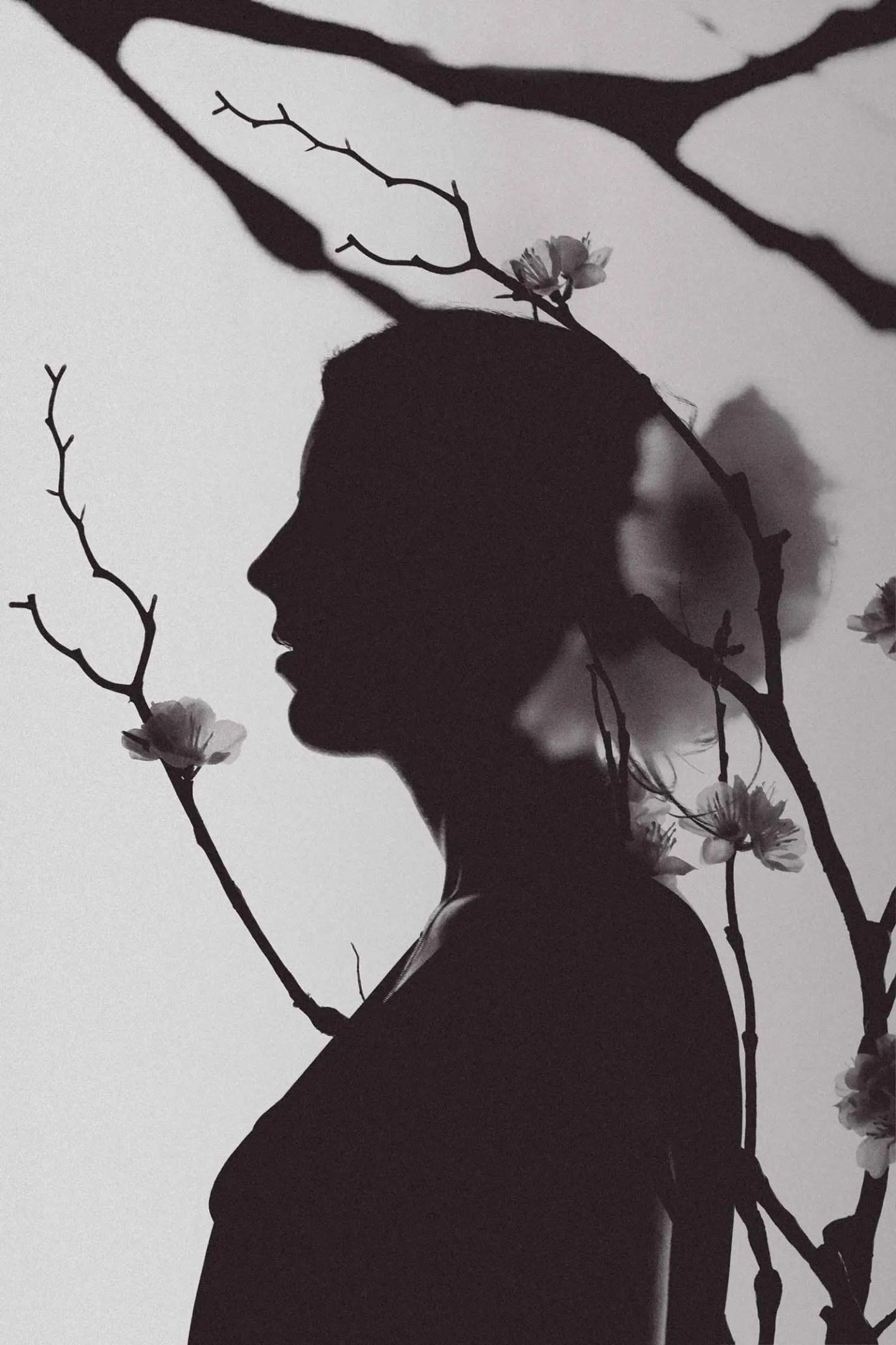 Photo femme noir et blanc