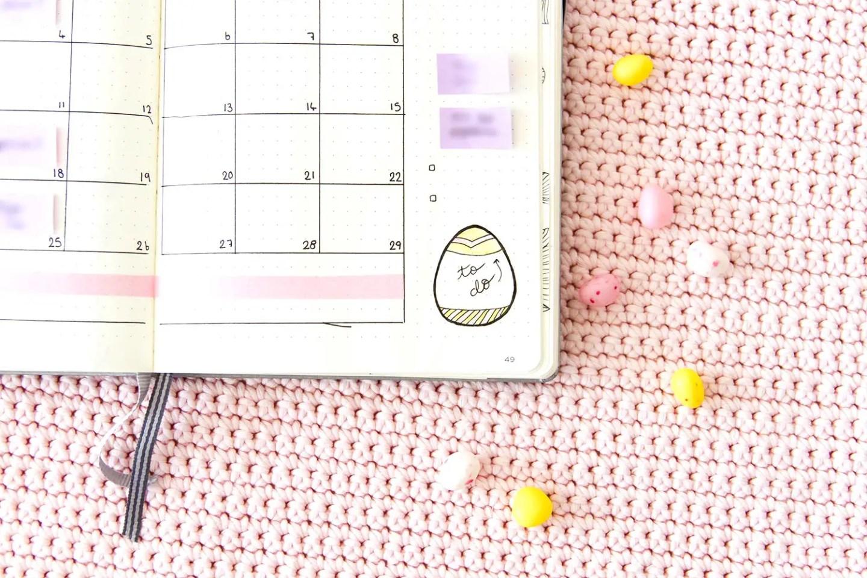 Bullet journal Avril - mise en page