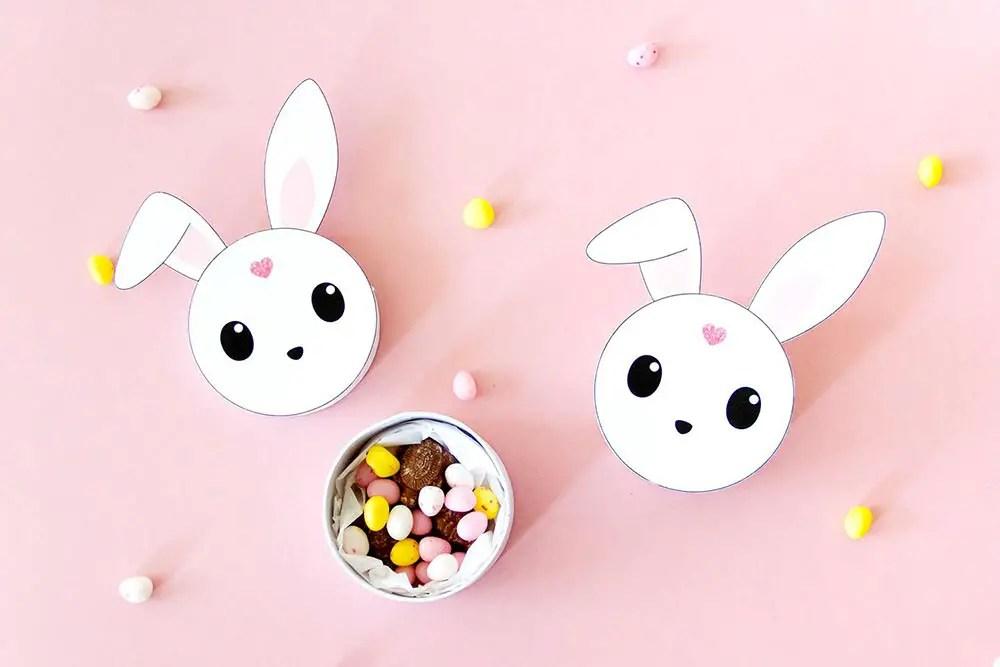 DIY lapin de Pâques – Freebie pour décorer une boîte de chocolats