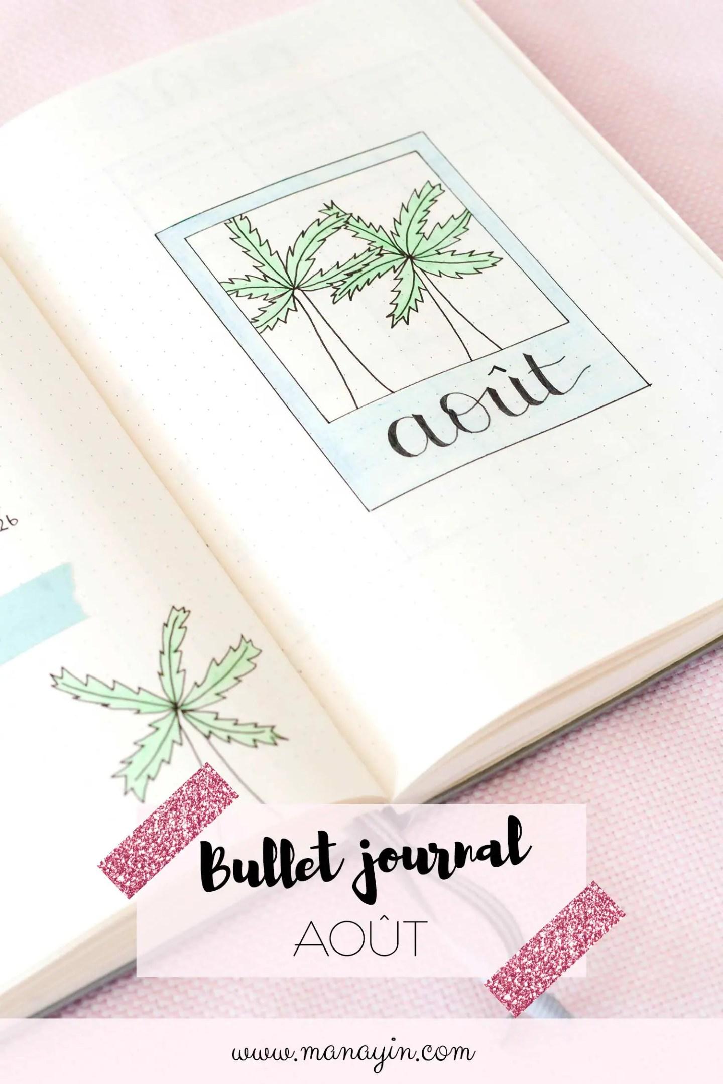 Bullet Journal Août