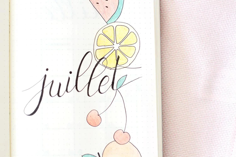 Bullet journal Juillet