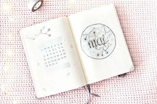 Bullet journal Mai 2018 : Mise en page + favoris d'Avril graphic