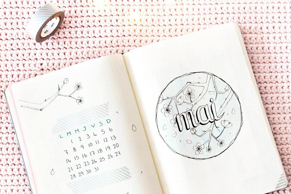 Bullet journal Mai 2018 : Mise en page + favoris d'Avril
