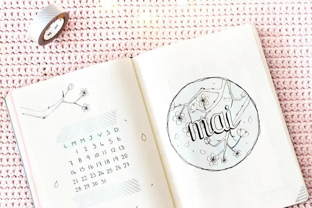 Bullet journal Mai 2018 : Mise en page + favoris d'Avril