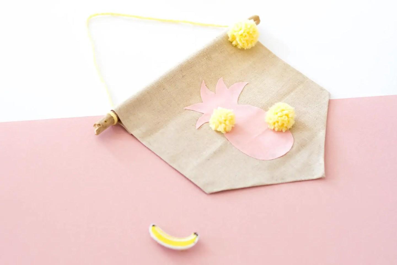 DIY fanion ananas : décoration pour l'été