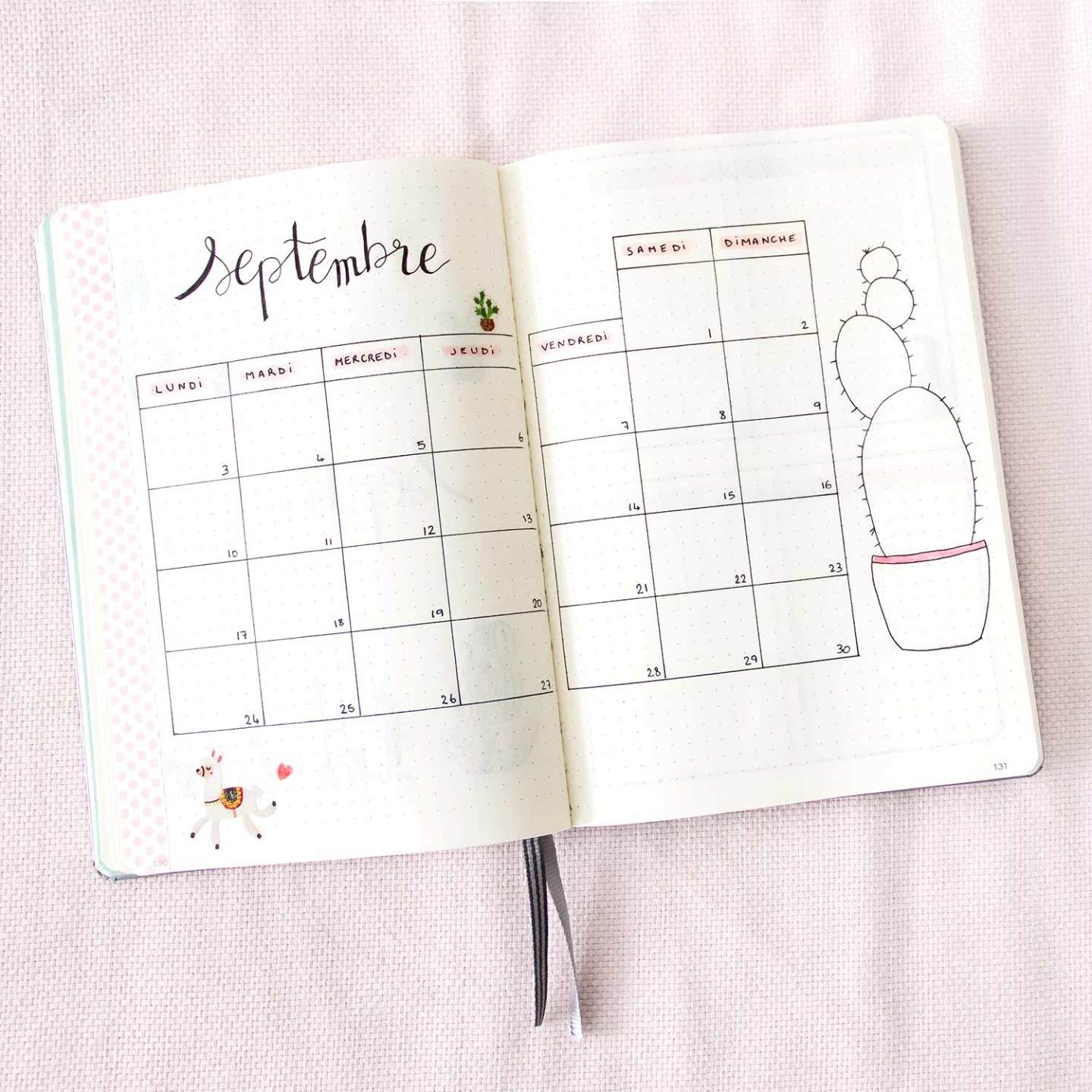 Bullet Journal Septembre