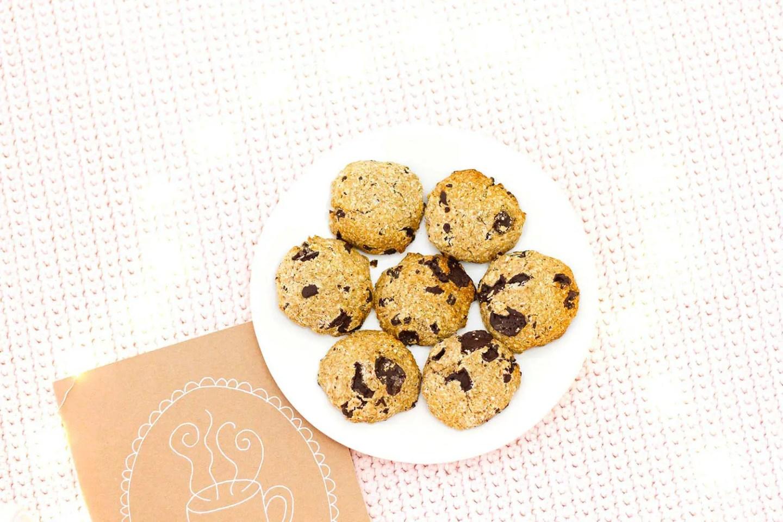 Recette de cookies healthy, sans beurre et sucre raffiné