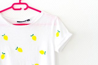 DIY tee-shirt citrons : comment customiser un tee-shirt facilement graphic