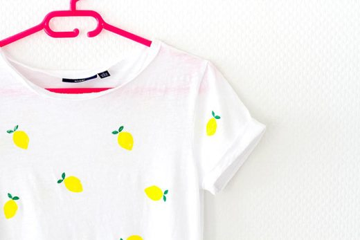 DIY tee-shirt citrons