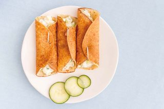 Recette de crêpes à l'ail et au concombre – sans gluten graphic
